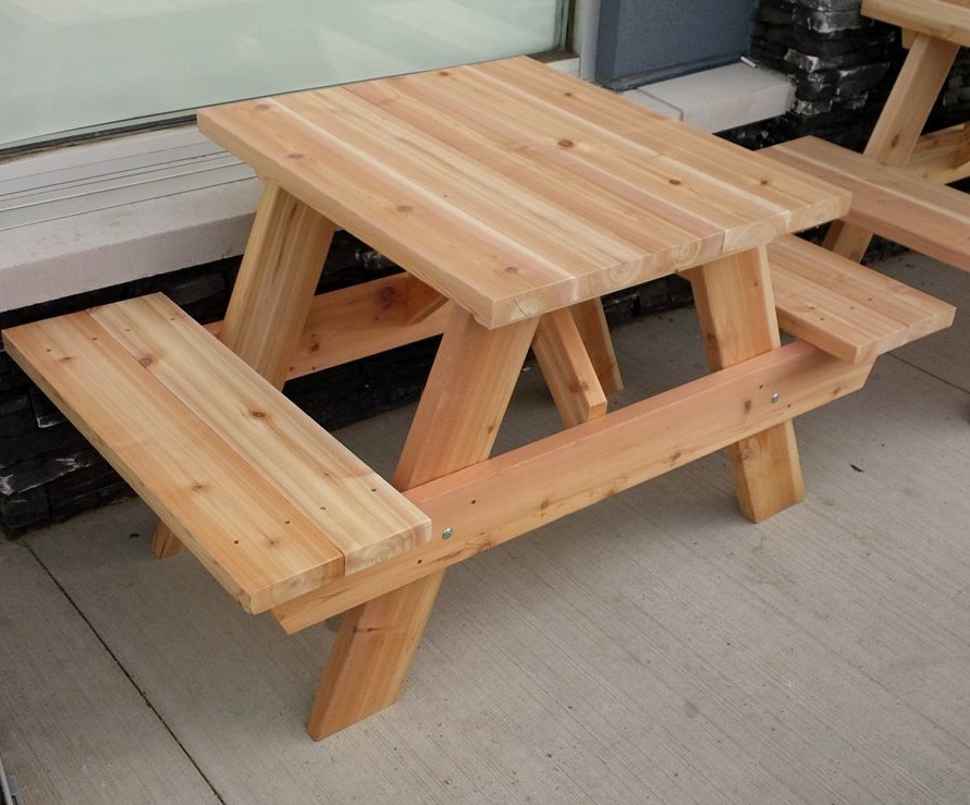 Picnic Table Forest Trek Woodwork