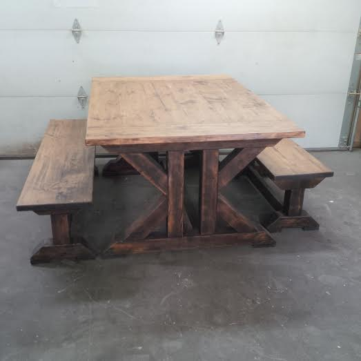 Trestle X Table Forest Trek Woodwork
