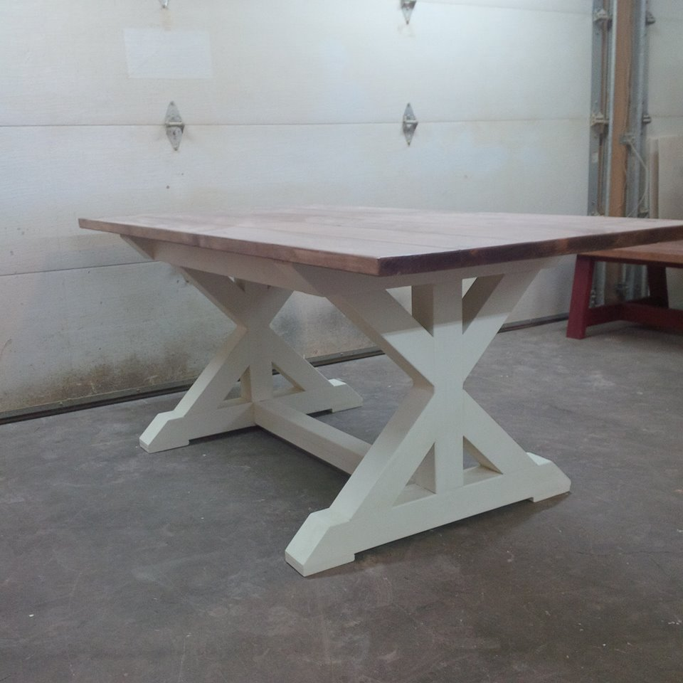 Trestle X Table Forest Trek Woodwork
