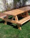 cedar picnic table edmonton alberta canada