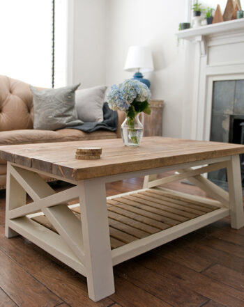 rustic farm harvest coffee table