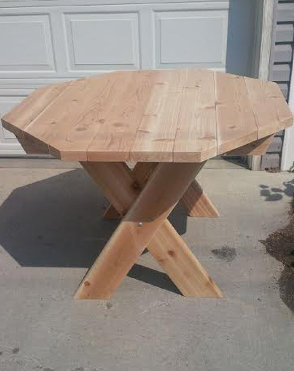 Octagon Picnic Table Forest Trek Woodwork