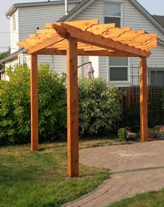 How To Build A Freestanding Deck And Pergola