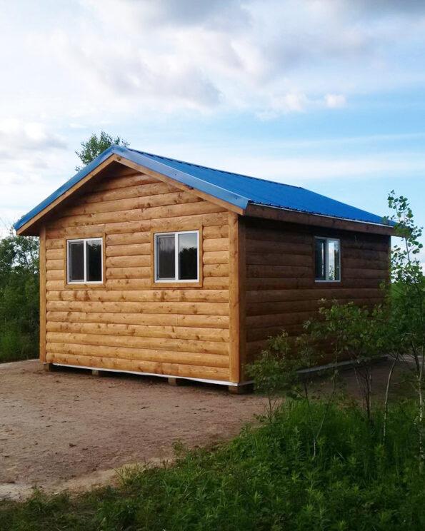 outdoor pine wood cabin
