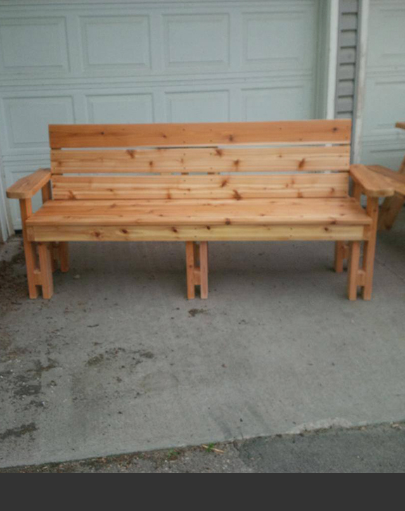 Garden Bench Triple
