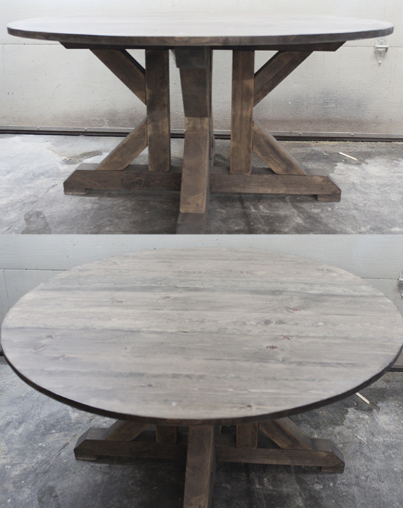Round Trestle X Table