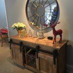 barndoor barn door console table edmonton alberta canada