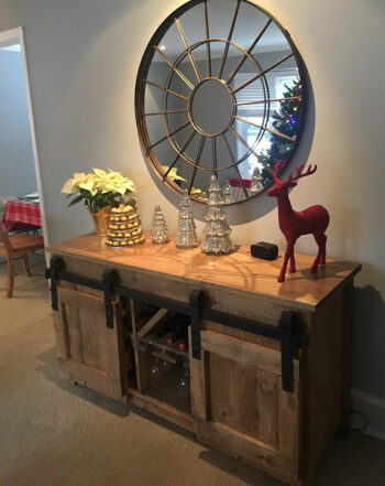 barndoor harvest console table