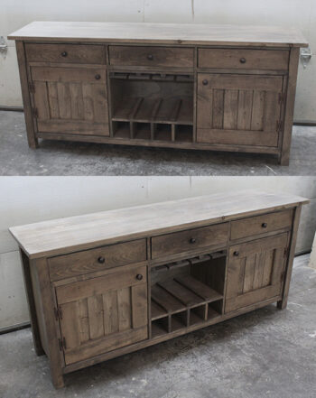 console buffet table rustic